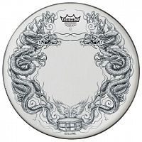 "Remo PA-1322-TT-T06 SALE  22"" Tattoo Skyn, передний пластик для бас барабана, дракон"