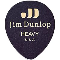 Dunlop 485R03TH  Медиаторы Genuine Celluloid Black Tear Drop, Thin